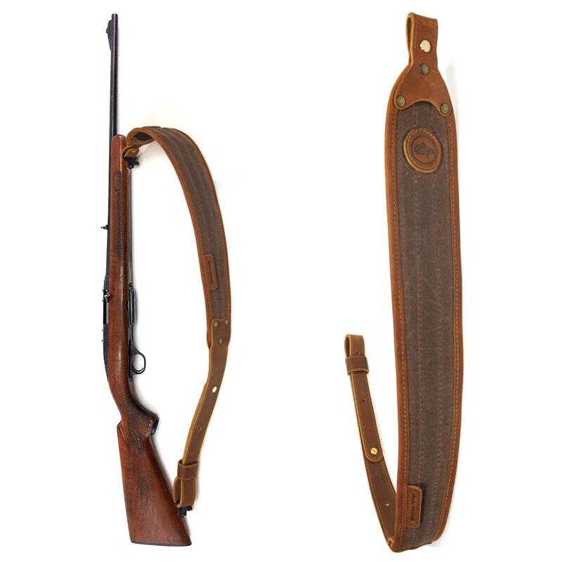 Hunting Gun Accessories Leather Rifle Sling Adjustable Shoulder Padding Canvas Shotgun Shooting Tactical Strap 106cm